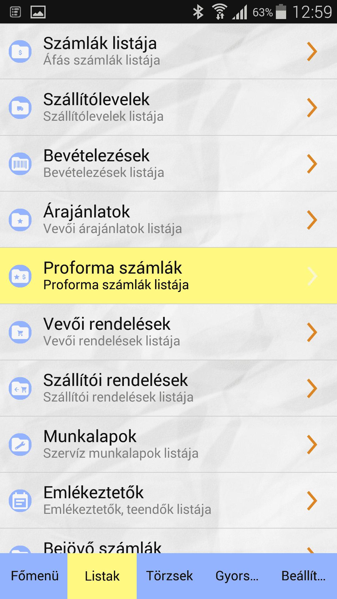 Számlázó Program Mobilra