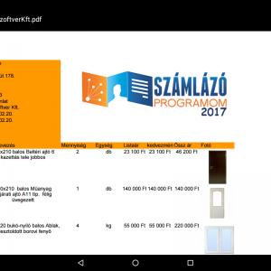 mobil számlázó program